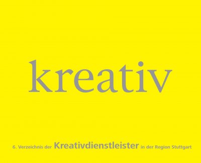 Deckblatt Katalog Kreativdienstleister in der Region Stuttgart