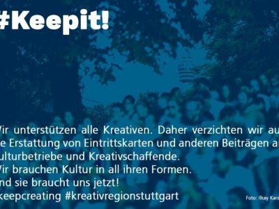 Solidarität für Kreativschaffende: #Keepit!