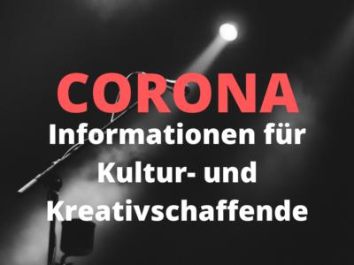 Informationen für Kultur- und Kreativschaffende